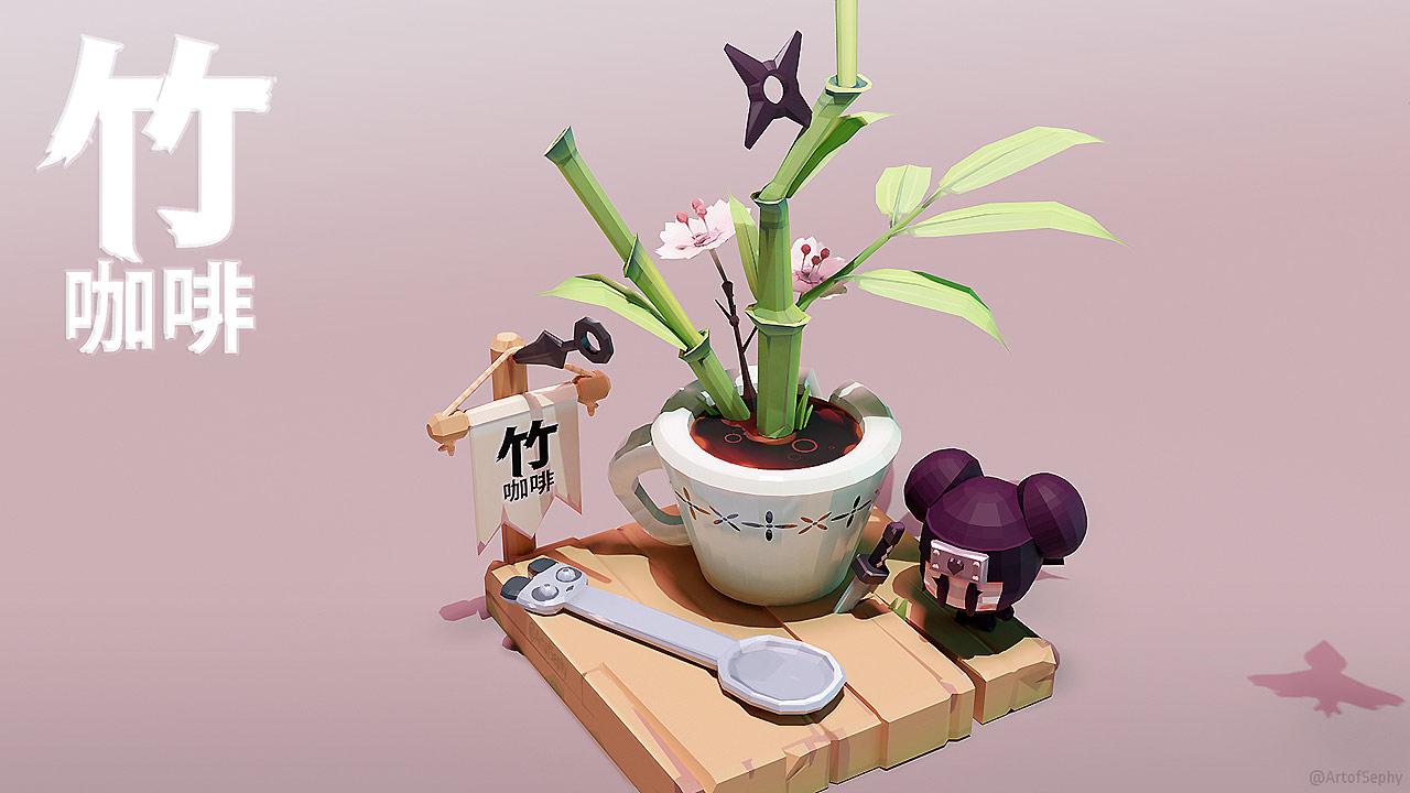 3D Coffee - Bamboo Coffee.