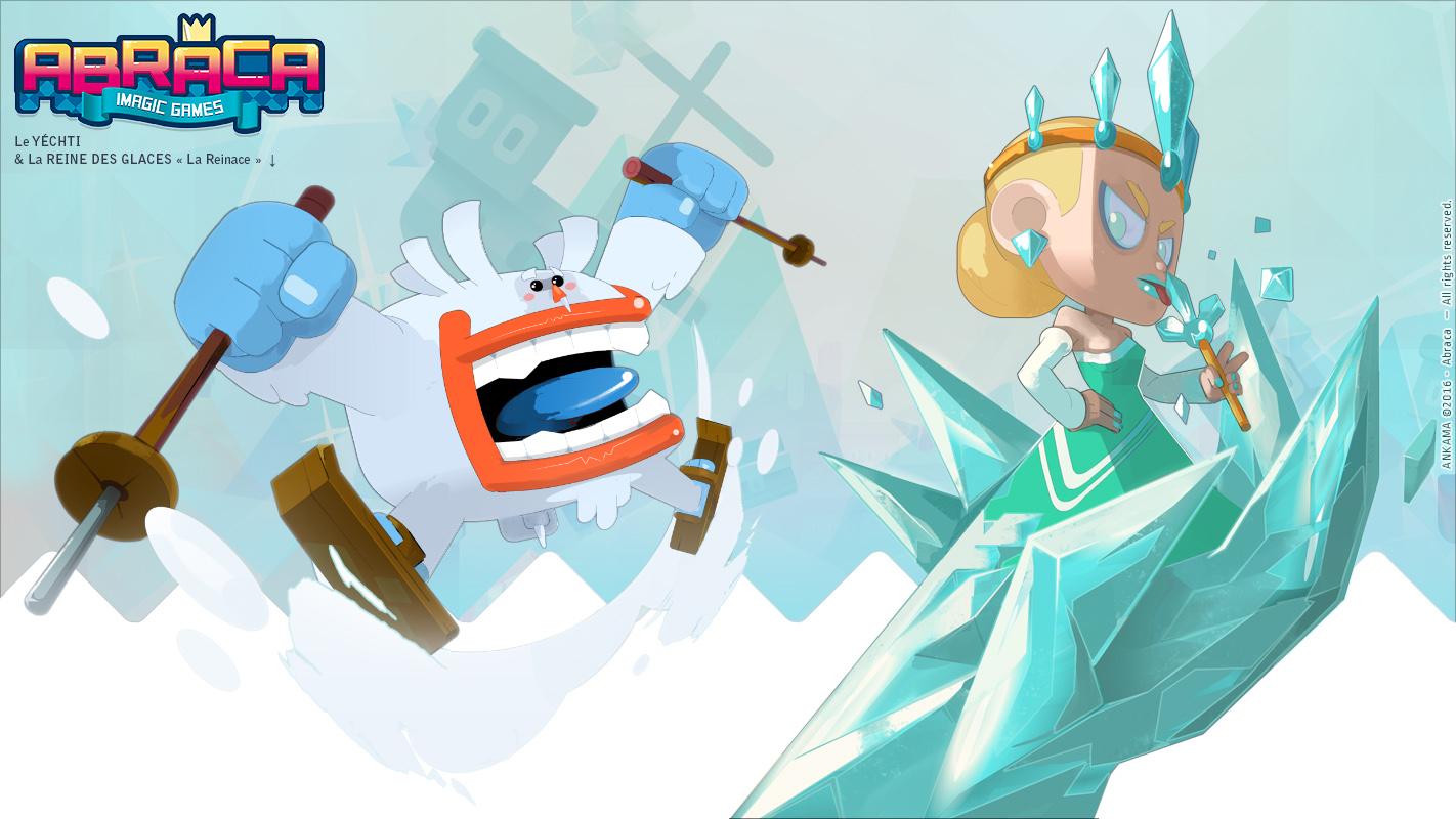 ABRACA - Characters : Reine des glaces & son Yéti.