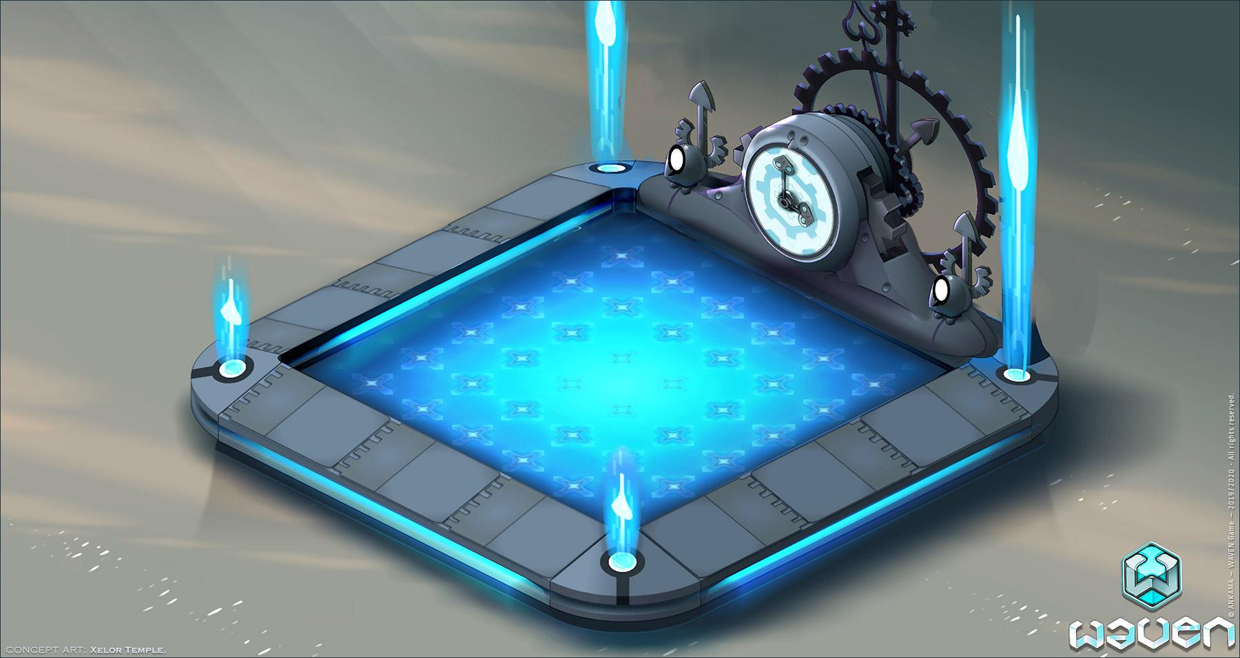 WAVEN Game - Concept Art Background - Xelor Temple.