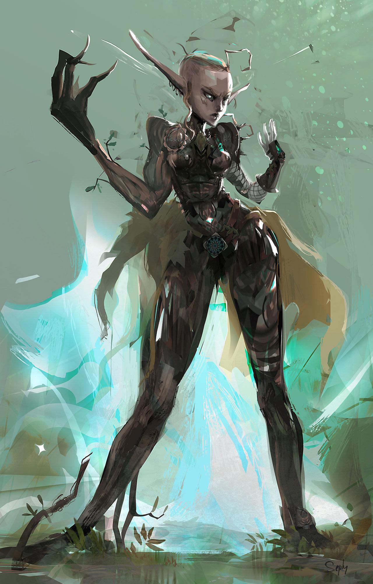 Character-Design Challenge - Elf Warrior.