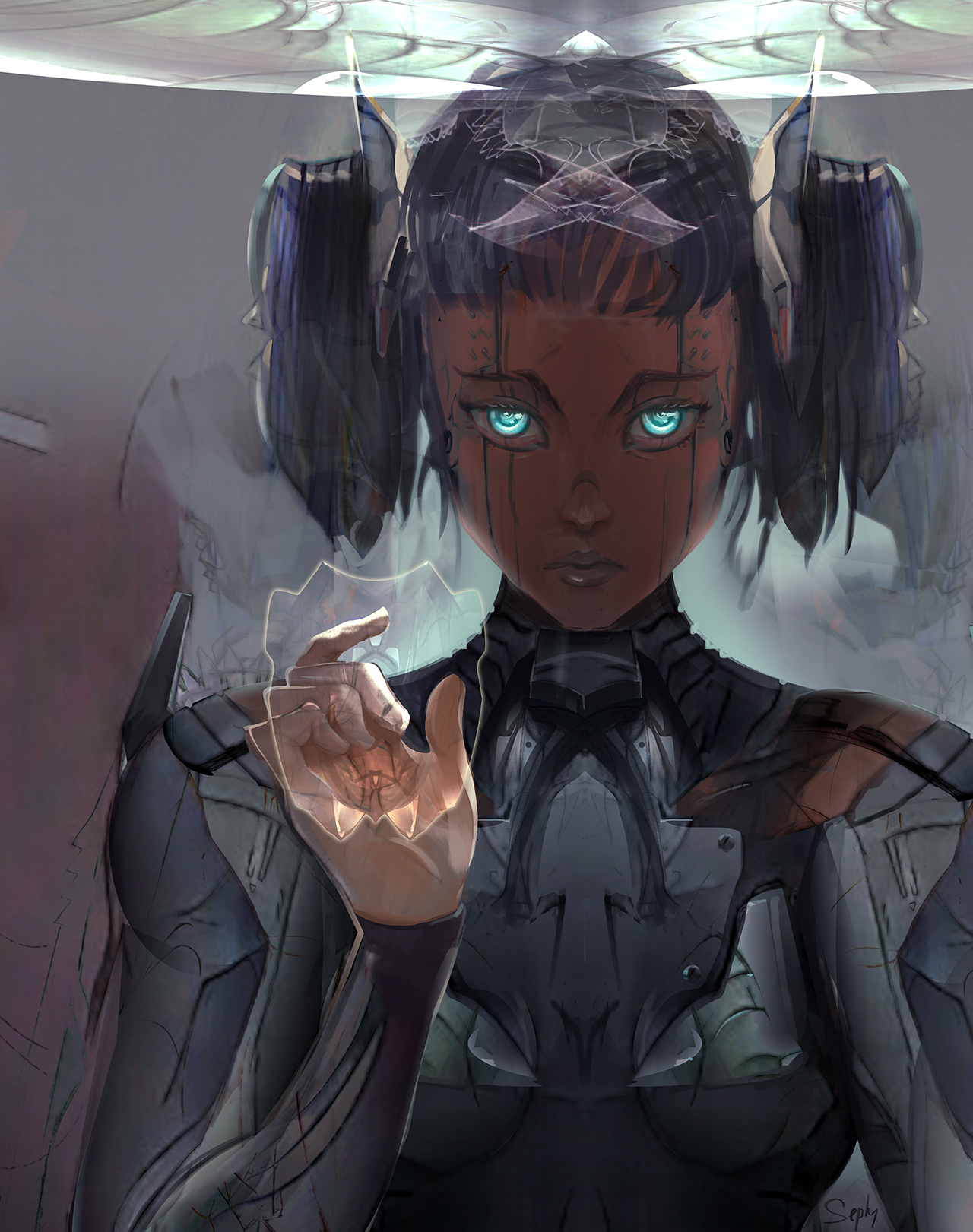 Character-Design exploration : Romika face.