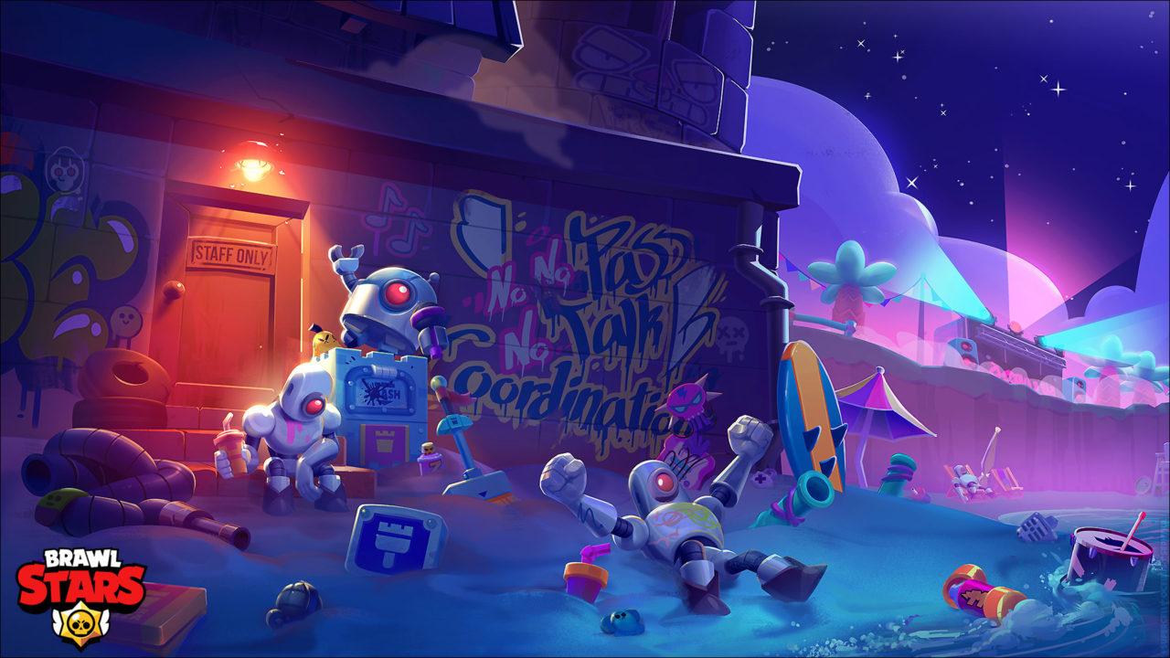 Brawl Stars Illustration | Brawl Bots party!